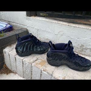 Nike Shoes - Woman's blue glitter foamposites